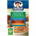 Quaker Flavor Variety Weight Control Instant Oatmeal, 12.6 oz