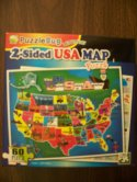 2 Sided USA Puzzle Map