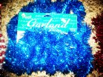 18 FT SHINY GARLAND BY YOUNG CRAFT BLUE