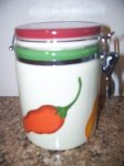 Ceramic Chili Pepper Canister