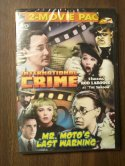 Double Feature~~The Shadow:International Crime/Mr. Moto's Last W