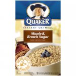 Quaker Maple & Brown Sugar Instant Oatmeal, 15.1 oz