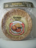 Bamboo Paper Plate Holders 2 pk