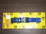 DUKES SNAP CLIP DOG COLLAR BLUE