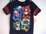 Justice League Sz Small 5/6 T-Shirt (dark blue & red)